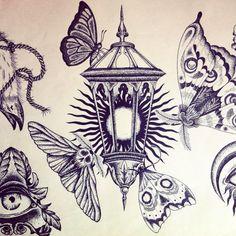 juliedocteur:  Magic lantern #lantern #lamp #light #moth #butterfly #sun #dot…