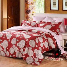 This tree print bedding sets is red, white and pink setting are gorgeously showcased in colors that say tradition and quality, which has a tropical texture design. Description from enjoybedding.com. I searched for this on bing.com/images