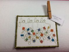 Quilted postcard tutorial for a Christmas card