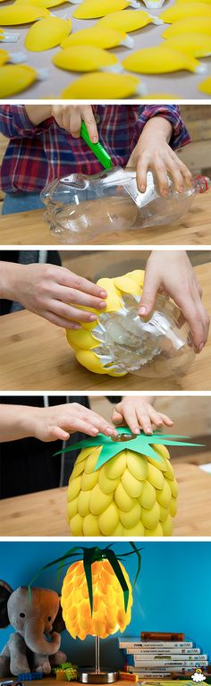 Use Ordinary Plastic Spoons To Create A Quirky Pineapple Lamp via LittleThings.com