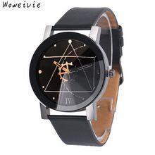 Módní Men Quartz Dial kožený Analogové náramkové hodinky hodinky kolo Case Doprava zdarma (Čína (pevninská část))