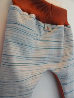 separated_teal_gray print Organic cotton interlock knit baby boy pants.  Fabric designed by shy_bunny on spoonflower.com.