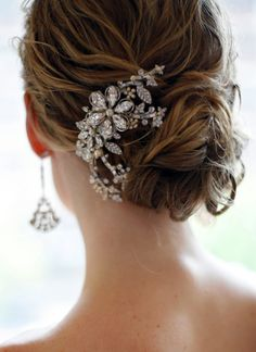 """Make a statement from behind if you want simple in the front.  """"National Velvet"""" hair ornament - PARIS by Debra Moreland - www.parisstyles.com"""