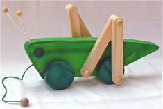 Wood on Wheels Red Things colorful v red Wooden Toys For Toddlers, Toddler Toys, Craft Stick Crafts, Wood Crafts, Wood Toys Plans, Wooden Words, Wooden Car, Wooden Puzzles, Paper Toys