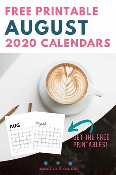 Here's where you can get your free August calendar printable! Choose whichever one(s) strike your fancy, print, and start planning today. #freeprintable #augustcalendar #printablecalendar Free Monthly Calendar, August Calendar, Blank Calendar, Free Printable Calendar, Free Printables, Organization Hacks, Organizing, Autumn Activities, Frame It