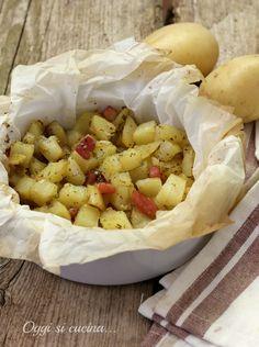 Patate e pancetta al cartoccio http://blog.giallozafferano.it/oggisicucina/patate-e-pancetta-al-cartoccio/