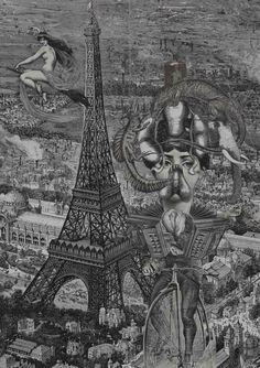Title: La vie en rose - 2014 Collage on paper Size with passepartout: cm 55x39 Unique piece