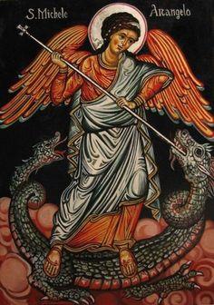 Se dio en el Cielo una gran batalla: Miguel y sus Ángeles combatían contra el dragón, esto es, contra Lucifer.