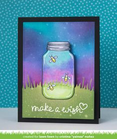 the Lawn Fawn blog: A Fun Collaboration with Chibitronics! + video   make a wish light up card by Yainea