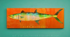 King mackerel art block: https://www.etsy.com/listing/210569829/king-mackerel-art-block-beach-theme?ref=market