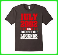 Mens 15 Years Old Kid Birthday T-Shirt Gift Made in 2002 July Tee Small Asphalt - Birthday shirts (*Amazon Partner-Link)