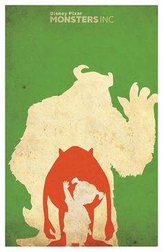 Monsters Inc Poster  Minimalistic  11x17 by PosterForum on Etsy, $15.00