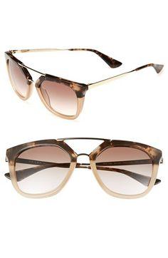 #GafasdeSol @Prada 'Pilot' 54mm #Sunglasses #eyewear