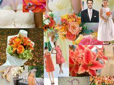 Coral Wedding : PANTONE WEDDING Styleboard : The Dessy Group