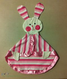 This snuggly Bunny Lovie  makes a perfect baby shower gift (from Sewing The Littleheart Collection)