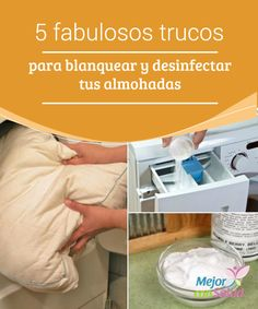 5 fabulosos trucos para #blanquear y #desinfectar tus #almohadas Para evitar problemas de salud y, sobre todo, para mantenerlas en las mejores condiciones, se recomienda #limpiar las almohadas, al menos, una vez al mes #HábitosSaludables Laundry Hacks, Hygiene, Home Hacks, Cleaning Hacks, Cleaning Schedules, Ideas Para, Diy And Crafts, Home Appliances, Personal Care