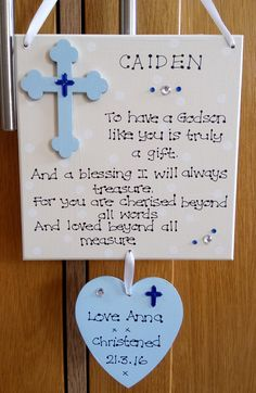 Personalised God Son Christening Godfather Baptism Poem Gift Plaque