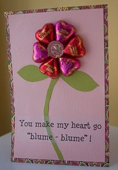 Made with real chocolate hearts that are store bought & come wrapped in colorful foil.