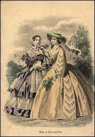 Fashion Plate collection of 19th and early 20th centuries of men's and women's costume, drawn from the leading fashion journals of the time.