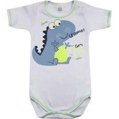 Body Bebê Menino Esperto Branco - Patimini :: 764 Kids | Roupa bebê e infantil