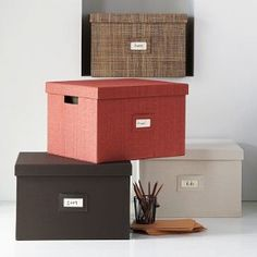 cute file box solution i would love to find a crate like this