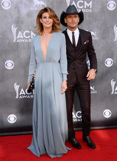 Faith Hill and Tim McGraw arrive at the 49th annual Academy of Country Music Awards at the MGM Grand Garden Arena in Las Vegas on April 6, 2014.