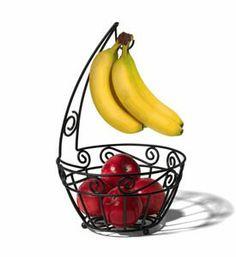 Scroll Fruit Bowl and Banana Holder
