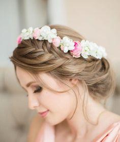 coiffure mariage cheveux long - tresse française en chignon