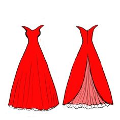learn how to draw dresses step by step - Google Search