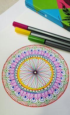 Amazing combination of Spirograph and Mandala Quick and easy step by step on how to start with spirograph art and mandala design Tools - Spirograph Tools Col. Mandalas Painting, Mandalas Drawing, Mandala Artwork, Dot Painting, Zentangles, Mandala Design, Doodle, Art Lotus, Spirograph Art