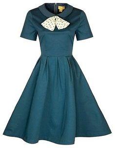 NEW LINDY BOP VINTAGE 1950'S STYLE PETER PAN COLLAR ROCKABILLY SWING JIVE DRESS