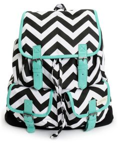 If you've got a new found love for zigzag, let it shine with the Empyre Girl Serene Chevron Striped rucksack backpack for back to school. This black and white chevron stripe print pack features a fully lined main compartment, two open side pockets, and a School Looks, Rucksack Backpack, Backpack Purse, Backpack Pattern, Canvas Backpack, Messenger Bag, Mk Handbags, Handbags Michael Kors, Sac College