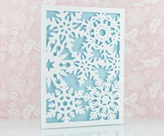 Laser Cut Christmas Card Snowflake Laser Cut Card by MomentidiVita                                                                                                                                                                                 More