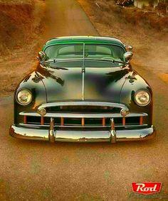 1949 Chevy, Green Low Custom