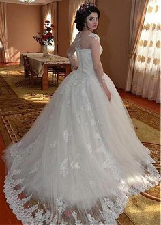 Wedding Dresses With Beaded Lace Appliques