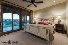 Guest Bedroom in Tuhaye, Park City, Utah by Cameo Homes Inc.