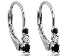 Image result for small lever back  diamond earrings
