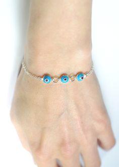 Evil eye bracelet Eye bracelet Blue evil eye by AngelicSpark, $25.00
