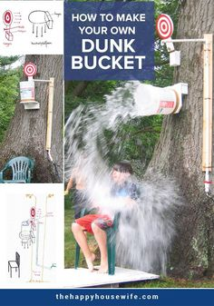 Remember how much fun it was to soak your favorite teacher in the dunk tank? Create your own awesome dunk bucket with this DIY project. You only need a few supplies to create hours of summer fun with this DIY dunk bucket. Homemade Heating Pad, Light Fixture Makeover, Industrial Curtain Rod, Dunk Tank, Diy Locker, Diy Wood Wall, Diy Blanket Ladder, Teacher Favorite Things, How To Make Diy