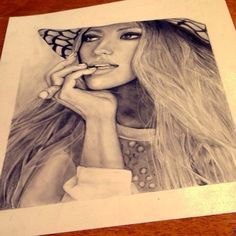 Blake Lively Pencil Drawings, Art Drawings, Celebrity Drawings, Blake Lively, Pop Art, Original Art, Aurora Sleeping Beauty, Arts And Crafts, The Originals