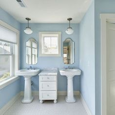 paint color = SHERWIN WILLIAMS BALMY SW6512. This might be nicer than the current blue we have in the guest bathroom
