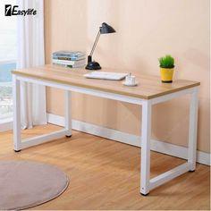 Modern Walnut Wooden Corner Computer PC Desk Home Office £57.99 / Study Table Bedroom