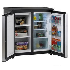 Avanti ft Freestanding Mini Fridge Freezer Compartment (Black/Stainless Steel) at Lowe's. Side-by-Side Refrigerator/Freezer offers a generous cubic foot capacity. The refrigerator section has a CF capacity, with a CF freezer. Undercounter Refrigerator, Double Door Refrigerator, Side By Side Refrigerator, Compact Refrigerator, Refrigerator Freezer, Outdoor Refrigerator, Refrigerator Organization, Refrigerator Cabinet, Beverage Refrigerator