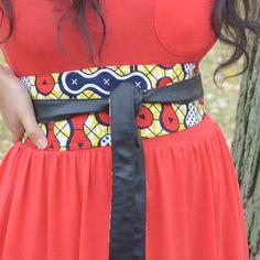 44444778372c Ceinture noire femme ceinture faux cuir et wax par coomonaetc Ceinture Noire,  Ceinture Obi,