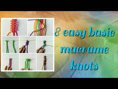 This tutorial is for beginners who need to learn macrame art essential. This video shows us How to tie the basic knots of Macramé! you can made different types of macrame projects by using this macrame knots. Hope you like this video as well, thanks for Diy Macrame Wall Hanging, Macrame Mirror, Macrame Bag, Hanging Flower Wall, Macrame Knots, Micro Macrame, Macrame Bracelets, Tutorial Diy, Macrame Tutorial