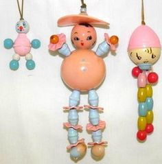 Vintage Celluloid Bakelite Baby Rattles by socal72girl, via Flickr