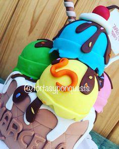 Icecreamcake torta en forma de helado