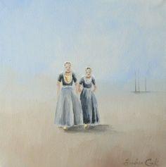Andrea Cook - meisjes in Zeeuws klederdracht