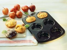 Apfelbacken: 6er Apfel-Muffinform