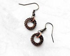 Small Hoop Earrings - Wood Earrings, Laser Cut Jewelry, Lightweight Jewelry, Hoop Earrings, Joanna Gaines, Gift for Women, Natural Jewelry